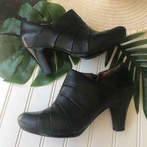 Clark's artisan Leather Heeled Booties